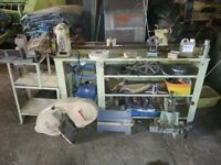 MYFORD ML8 WOOD TURNING LATHE BREAKING FOR PARTS LONG BED .THE BANDSAW IS £120 COMPLETE