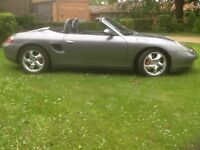 Porsche Boxster 3.2 petrol with 6spd manual gearbox in metallic grey 2002/02 plate