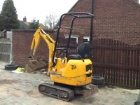 JCB MICRO Digger with expanding tracks