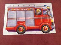 Big Red Fire Engine Floor Puzzle, 44 pieces in original box