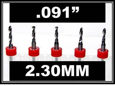 .091 - 2.30mm - 18 Shank Carbide Drill Bits Five Pcs Wood Plastic Metal Cnc R