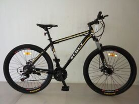 "19"" Mountain bike, MTB, 27.5"" wheels, front suspension, disc brakes"