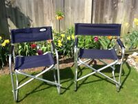 Pair of directors chairs