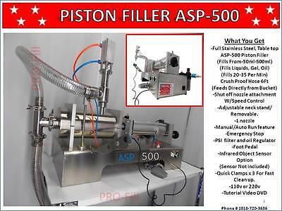 50ml-500ml Piston Filler Single Head Advanced Suction Pump-500 Fills Liquidgel