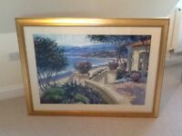 Beautiful beach scene Italian print.