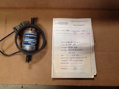 Schaevitz Force Transducer 0-2000 Lbs Nos Military Surplus