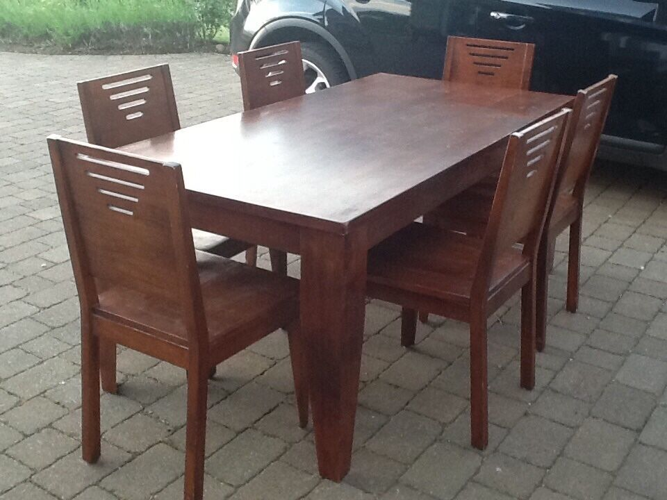 large dining table 6 matching chairs united kingdom