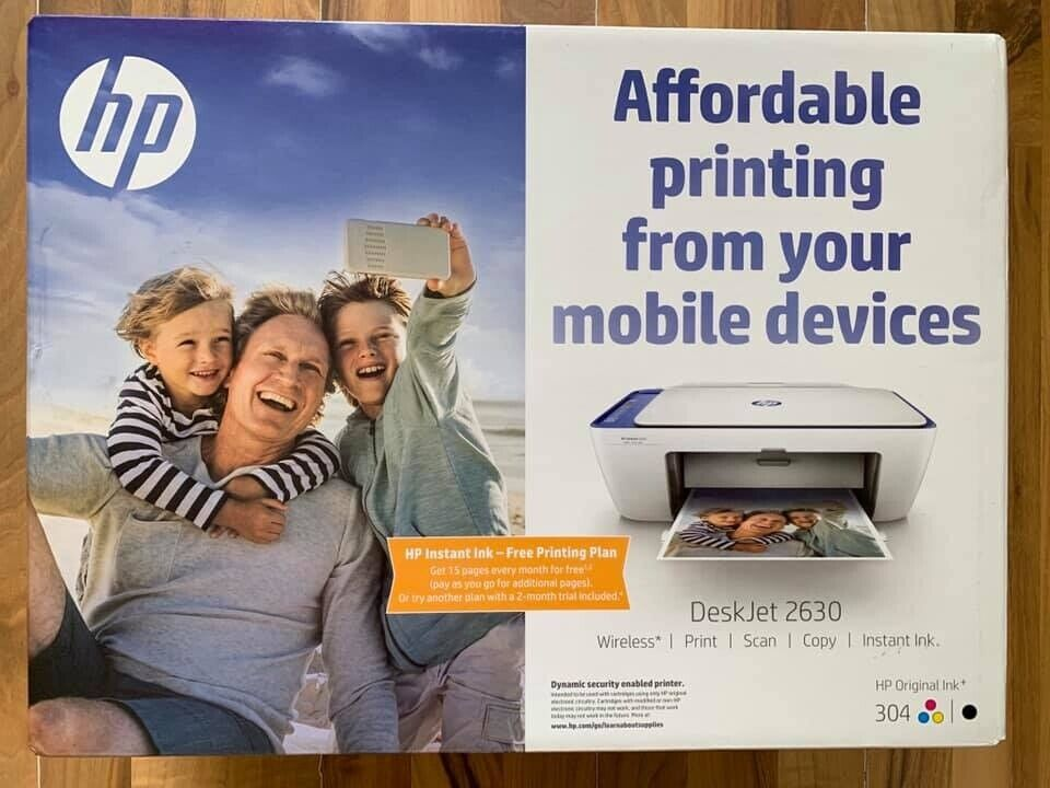 HP Deskjet 2630 All-in-One Printer, 2 Months Free ink ! brand new & sealed  !Price stands, no offers | in Mountain Ash, Rhondda Cynon Taf | Gumtree