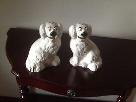 Pair dog ornaments