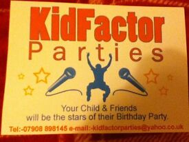 Amazing Children's Entertainer with own act available with disco included! Kid Factor Parties
