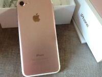 iPhone 7 , unlocked , 32gb , rose gold
