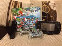 WiiU 32GB Console With Mario Kart 8, Super Mario Bros U & 2 Afterglow Wii U Pro Controllers