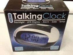 Quality SPANISH Talking Speaking LOUD Alarm Clock sound Time Date Temp 12/24 Hr