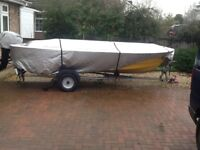Shetland Gh 14 boat As new 20 Hp electric start outboard