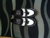 Black and white Loathers (leather)