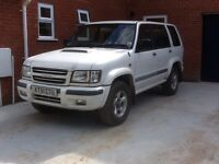 Isuzu Trooper. 2002. Low mileage. 10 months MOT