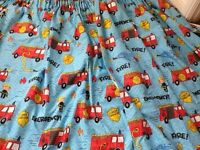 Blackout fireman curtains and matching duvet cover
