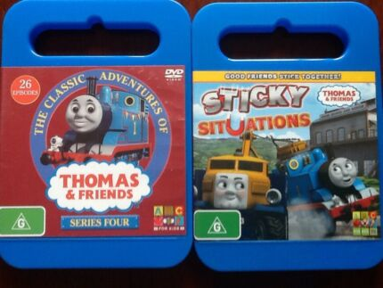 Thomas the Tank Engine DVD's, Series 4 & Sticky Situations.