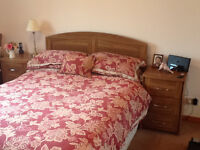 Bedroom Furniture Set - Quality Chests of Drawers and Headboard, ex-Ogilvies