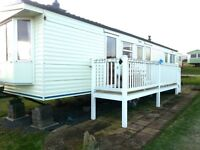 cheap static caravan with decking !! static caravans for sale , north east coast , sea view pitches