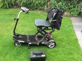 Mobility scooter TGA Minimo folding design excellent condition in Bronze only used 10 times