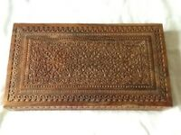 Ornate carved wooden box