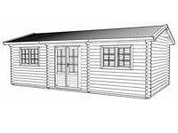 7,5 x 4 m (44 mm) log cabin