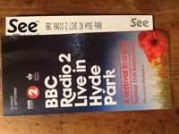 BBC Radio 2 LIVE IN Hyde Park 2 adult tickets