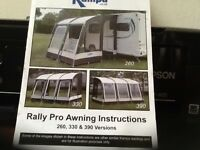Kampa Rally 260 Porch Awning