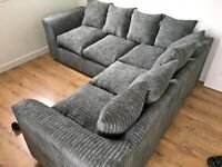 BRAND NEW LIVERPOOL JUMBO CORD CORNER OR 3+2 SEATER SOFFA SET AVAILABLE IN STOVCK