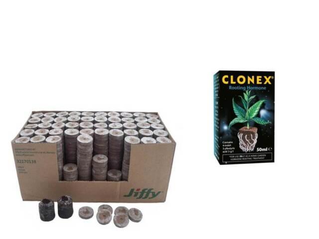 7c COCO JIFFY 50mm x 90 & CLONEX 50ml AND 5 FREE PAIRS OF GLOVES