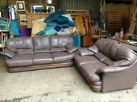 Chocolate Brown Leather Sofas for Sale