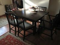 Parker Knoll dining table and 6 chairs - Stadhampton