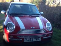 Red Mini Cooper in good condition, MOT until May