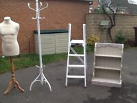 White wood coat stand