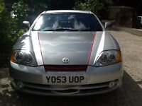 Hyundai Coupe auto 2.0i SE silver/grey. Well looked after. One previous owner. Full leather seats.