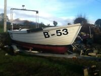 Fishing Boat with inboard diesel, Licence and Trailer