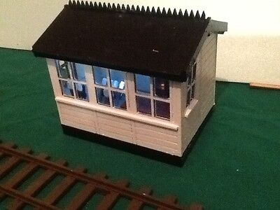 SIGNAL BOX FOR GARDEN RAILWAY. 16MM SCALE. COMPLETE KIT. G SCALE COMPATIBLE