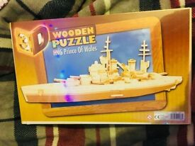 Brand New Sealed Wooden HMS Prince of whale Ship Puzzle Model