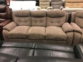 High retail brown fabric suite