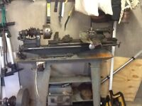 MYFORD ML1 lathe believed to be 1930s complete with cast iron stand
