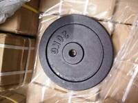 Brand new and boxed 2 x 20kg standard weight plates