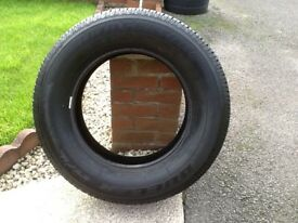 Goodyear wrangler and Bridgestone dueller tyres 255/65/R17. Navara alloy/steel wheel