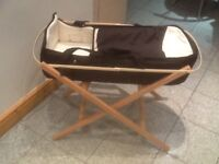 Brand new/unused carrycot + foldable Moses basket stand-£10 for both together