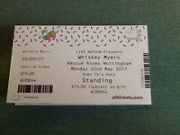 2 Whiskey Myers Gig Tickets