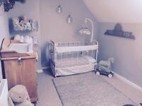 Antique French metal cot