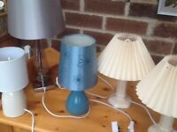 5 Bedside and living room lamps