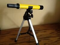 Child's National Geographic telescope with tripod