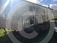 Caravan for hire on happy days towyn north wales