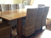 Irish Coast large extending dining table and 8 chairs and Dresser